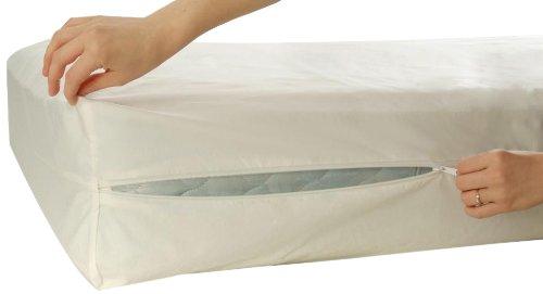 Allersoft Bettwanzen-, Staubmilben- & Allergiekontroll-Matratzenschutzumhüllung aus 100 Prozent Baumwolle, 120 x 200 x 20 cm