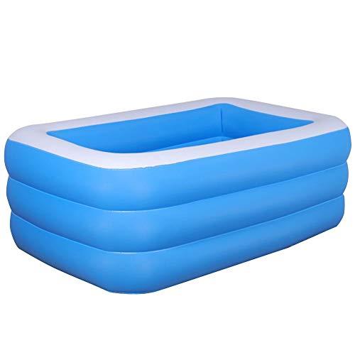 Exuberanter Family Pool Aufblasbar Rechteckig Kinderpool Planschbecken Für Garten Kinder Erwachsene Sommerwasserparty, 1,2 M / 1,5 M / 1,8 M / 2,1 M