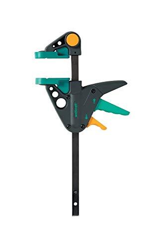 Wolfcraft EHZ 65-150 Einhandzwinge PRO 3456000 / Kraftvolle Zwinge für professionelle Arbeiten zum Spannen von Werkstücken mit nur einer Hand / Spannkraft: 90 kg - Spannweite: 150 mm
