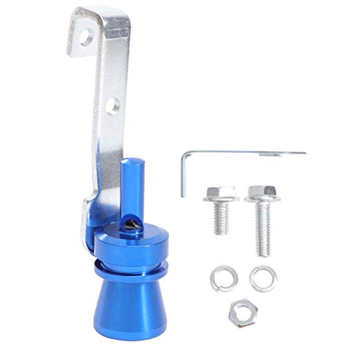 VOSAREA Aluminium Auto Turbo Sound Auspuff Whistle Rohr Endrohr Ausblasventil Simulator Größe M Blau