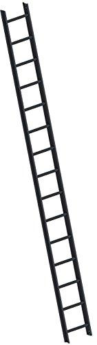 Layher Dachleiter gem. DIN 18160-5 TOPIC 1051 mit Schutzprofil 15 Sprossen Leiterlänge 4,20 m / Anthrazitgrau RAL 7016