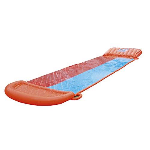 BESTWAY 52255 H2OGO Wasserrutsche Slide, Double, 549 cm Länge, Multicolor