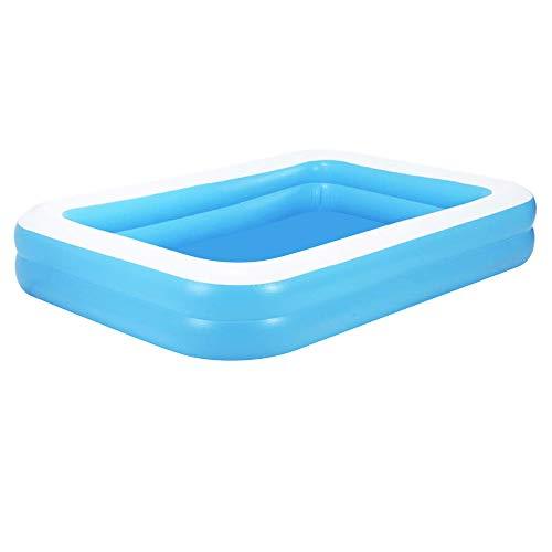 Aufblasbarer Pool Family Pool Deluxe, Kinderpool Planschbecken Schwimmbad Family Ocean Ball PoolPlanschbecken, PVC-Klappbarer langlebiger Swim Pool für Familie, Garten, Outdoor 128 * 85 * 45cm