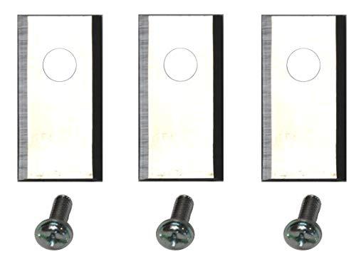 Genisys 30 Ersatz Messer Klingen kompatibel mit LANDROID von Worx (1-Loch - NEU HQ 2019 - longlife - 1,0 mm) + Schrauben [DIN EN 50636 geprüft]