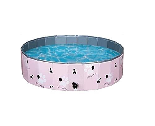 AZCX Faltbare Haustierhunde Katzen Paddling Pool Multifunktions Schwimmen Badewanne