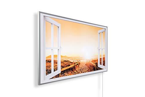 Könighaus Fern Infrarotheizung – Bildheizung in HD Qualität mit TÜV/GS - 200+ Bilder - 600 Watt (227 Fenster offen)