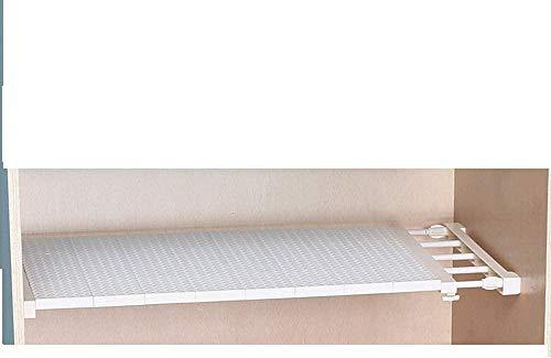 LHYLHY 38-55 cm Multifunktionales versenkbares, verlegtes Trennregal Regal für Kleiderschrank Schrank Küche Bad Bücherregal ausziehbar verstellbar