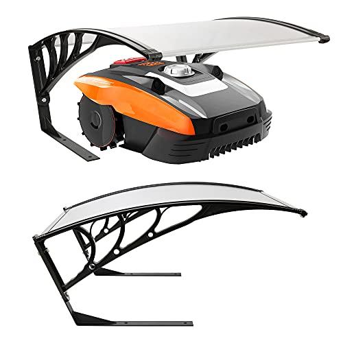 Arebos Mähroboter Garage   Rasenmäher Rasenroboter Automower   Größe 102 x 79 x 46 cm   Witterungsbeständig + UV-Schutz   mit Metallfüßen   Rasenmäher Überdachung   inkl. Montagematerial