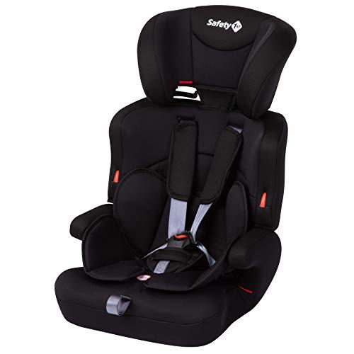 Safety 1st 8512764001 Ever Safe Plus Kindersitz, mitwachsender Gruppe 1/2/3 Autositz mit 5-Punkt-Gurt (9-36 kg), nutzbar ab circa 9 Monate bis circa 12 Jahre, schwarz