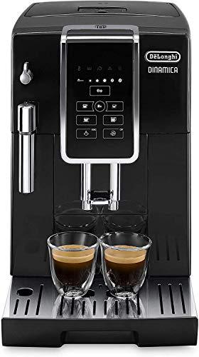De'Longhi Dinamica ECAM 350.15.B Kaffeevollautomat mit Milchaufschäumdüse für Cappuccino, mit Espresso und Kaffee Direktwahltasten und Digitaldisplay mit Klartext, 2-Tassen-Funktion, schwarz