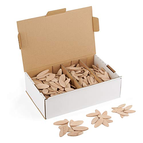 Flachdübel Set von WFix | wie Lamello 20 10 0 | Flachdübel Sortiment mit 500 Holzdübel | geeignet für Lamellofräse Flachdübelfräse makita mit Fräser 4mm für Holz