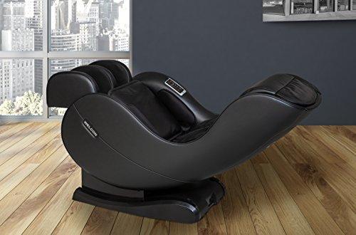 WELCON Massagesessel EASYRELAXX in SCHWARZ - 3D Massagestuhl mit Neigungsverstellung elektrisch Automatikprogramme Knetmassage Klopfmassage Rollenmassage Sessel Massagestuhl