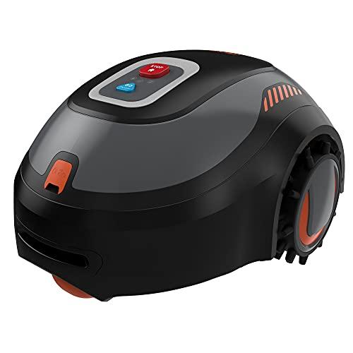 Black+Decker Mähroboter BCRMW121 (kompakter Akku-Rasenmäher für Rasenflächen bis 500m², 18 cm Schnittbreite, Schnitthöhe 15-60 mm, Steigungen bis 30%, mit Bluetooth-Steuerung via App, Diebstahlschutz)