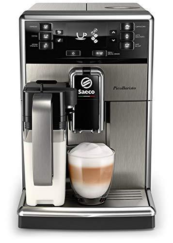 Saeco PicoBaristo SM5473/10 Kaffeevollautomat (integrierte Milchkaraffe, AquaClean) edelstahl