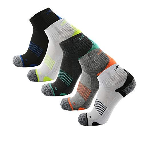 MeiKan Low Laufsocken, Running Socken für Damen & Herren, 5 Paar Unisex Sneaker Sportsocken