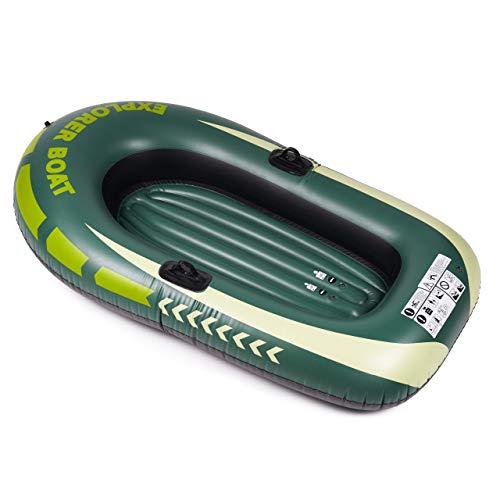 Aufblasbares 150-cm-Schlauchboot aus grünem Gummi - Einfach aufzublasen und zu entleeren, Familienspaß für Strand und Pool