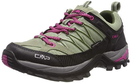CMP Damen Rigel Low Wmn Shoe Wp Trekking- & Wanderhalbschuhe, Grau (Argilla-Geranio 13pc), 38 EU