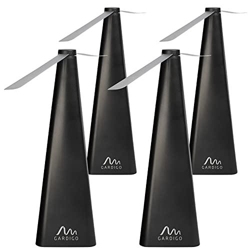 Gardigo Fliegenwedler 4er Set I Fliegenvertreiber elektrisch I Fliegenabwehr Ventilator für den Tisch I Insektenabwehr gegen Fliegen