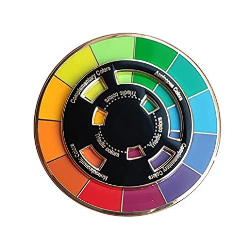 Langjitianya Kreative Farbrad-Anstecknadel, das sich drehende Rad bewegt sich gut, Farbrad-Brosche