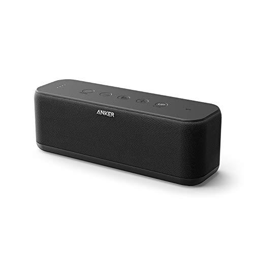 Anker SoundCore Boost Bluetooth Lautsprecher, BassUp Technologie, IPX7 Wasserschutz, 12 Std Akku, 20m Reichweite, Duale Treiber, intensiver Bass, EQ