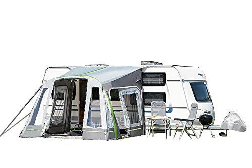dwt Vorzelt Wohnwagen aufblasbar Junior Air 320x290 cm Camping Air-In Doppelhubpumpe Ultraleicht Tunnelzelt Teilzelt