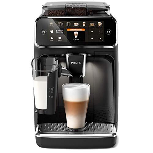 Philips 5400 Serie EP5441/50 Kaffeevollautomat, 12 Kaffeespezialitäten (LatteGo Milchsystem) Matt-Schwarz/Klavierlack-schwarze Arena