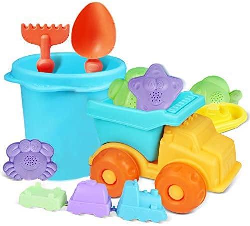MOMMED Sandspielzeug,Eine Reihe von Sandkasten Spielzeugen(12PCS) , EIN Langlebiges und Sicheres Garten Spielzeug,Sandkasten Spielzeug ab Mädchen,Sandspielzeug Jungen und Mädchen.
