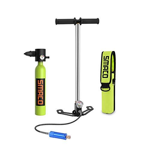 SMACO Mini Tauchflasche Sauerstoffflasche Taucherflasche Mini zum tauchen Mit 5 Bis 10 Minuten Tauchen Sauerstofftank Taucher Set Tauchausrüstung Tragbare 0.5L(10 Tage Lieferung)