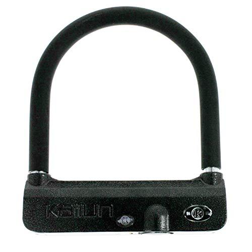 Padlock ecolle Bügelschloss mit Alarm | 205 mm x 170 mm | Inkl. Batterien | 3 Schlüssel | Alarmschloss Fahrradschloss für Fahrrad, Motorrad usw.