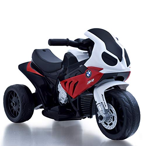 Daliya Elektro Kindermotorrad Kinderfahrzeug Elektro-Dreirad mit Akku Kinder Elektromotorrad Lizenz Spielzeug (Rot)
