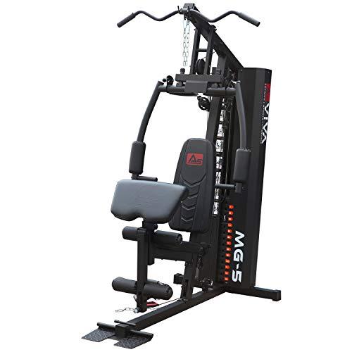 AsVIVA Kraftstation MG5 Pro, 35in1, 90 kg Multi-Gym (inkl. 90 kg Gewichtsblöcke), Massive Fitnessstation, Power Homegym