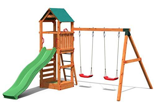 Gartenpirat Spielturm Kletterturm Pirat T1 mit Schaukel und Rutsche