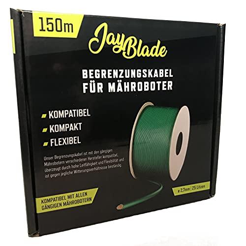 JayBlade 150m Begrenzungskabel Ø2,7mm für Mähroboter - Suchkabel - Begrenzungsdraht - kompatibel mit GARDENA EINHELL KRESS HUSQVARNA WORX HONDA ROBOMOW McCulloch YARD FORCE Landxcape