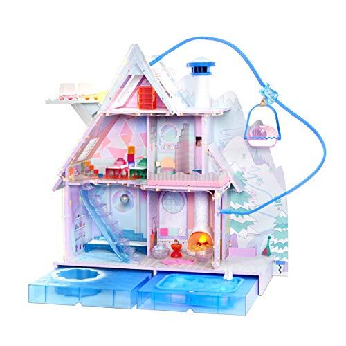 L.O.L. Surprise! 562207E7C Chalet Winter Disco - Großes Puppenhaus mit Licht- und Soundeffekten und exklusiver Puppenfamilie