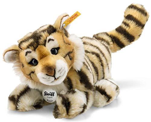 Steiff Radjah Baby Tiger - 28 cm - Schlenkertier für Kinder - Plüschtiger - weich & waschbar - getigert (066269)