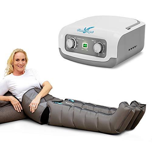 Venen Engel ® 4 Gleitwellen Massage-Gerät mit Bauch- & Beinmanschetten, 4 Luftkammern, Druck & Zeit unkompliziert einstellbar