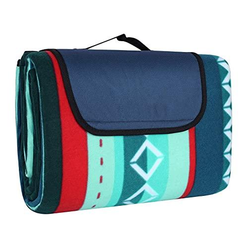 Picknickdecke 200 x 300 cm, Picknick-Matte Outdoor sanddichte wasserdichte Stranddecke tolle Fleece wärmeisoliert mit Tragegriff, XXL