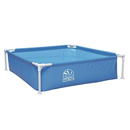 Jilong Kids Frame Pool 122x122x33 cm Kinderpool Planschbecken Stahlrohr Schwimmbecken Kinder und Familien Schwimmbad stabiler Stahlrahmen Pool