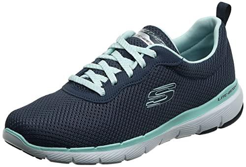 Skechers Damen Flex Appeal 3.0-First Insight Sneaker, Navy Aqua, 41 EU