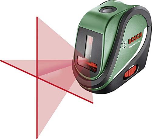 Bosch Kreuzlinienlaser UniversalLevel 2 Set (3x AA Batterien, Softbag, Arbeitsbereich: 10 m, Selbstnivellierungszeit: 4 s, Betriebsdauer: 5 h)