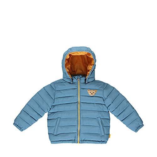 Steiff Jungen mit süßer Teddybärapplikation Jacke, Coronet Blue, 092