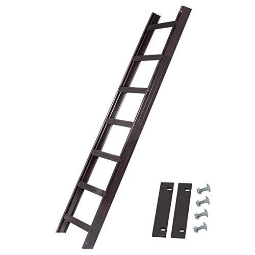Alu Dachleiter Set Anthrazit, 3,92 m mit Dachhaken (15 mm, gekröpft für Holzbohlen) inklusive Auflageschutz und Aushebesicherung, Made in Germany, DEKRA geprüft