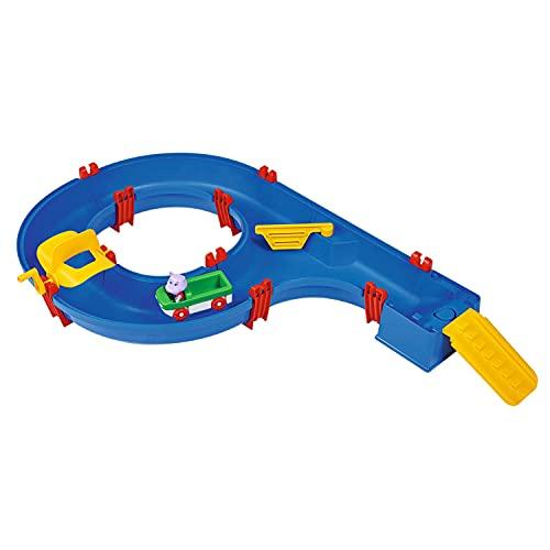 AquaPlay - AmphieSet - 88x50x13 cm große Wasserbahn, ideales Einsteigermodell, inklusive 1x Spielfigur Wilma (Hippo) sowie 1x Amphibienfahrzeug, für Kinder ab 3 Jahren