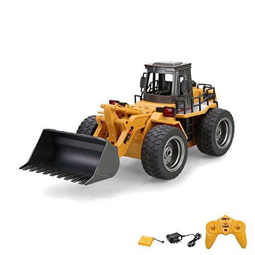 2.4GHz RC ferngesteuerter Bagger Baustellen-Fahrzeug, Modell mit viele Metallbauteile, schwenkbarer Schaufel Radlader, Ready-To-Drive, Komplett-Set RTR