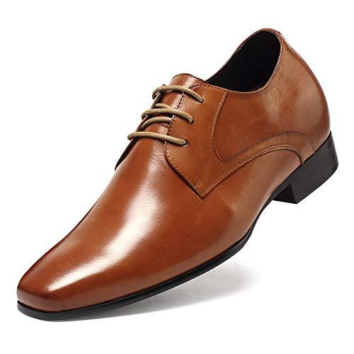 CHAMARIPA Herren Schuhe, 7 cm Business Schuhe Derbys Aufzug Schuhe Herren auf Party Meeting Dating Hochzeit D08K02