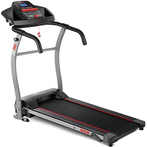 FITFIU Fitness MC-100 - Faltbares Laufband, Geschwindigkeit bis zu 10km/h, manuelle Steigung, Lauffläche 31x102cm, Leistung 900w, LED Display, ideal zum Gehen, max. Gewicht 120kg
