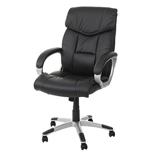 Mendler Massage-Bürostuhl HWC-A71, Drehstuhl Chefsessel, Heizfunktion Massagefunktion Kunstleder - schwarz