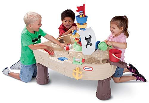 Little Tikes Anchors Away Piratenschiff - Wasserspielset für Kinder - Sicher und Tragbar - Fördert kreatives Spielen