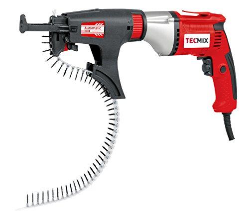 TECMIX 17000 Schnellbauschrauber TMX TBS 550 [230V-EU] Magazin-Trockenbauschrauber, W, 230 V, rot