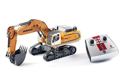 siku 6740, Liebherr R980 SME Raupenbagger, Ferngesteuert, 1:32, Inkl. Funkfernsteuerung, Metall/Kunststoff, Batteriebetrieben, Viele Funktionen, Gelb